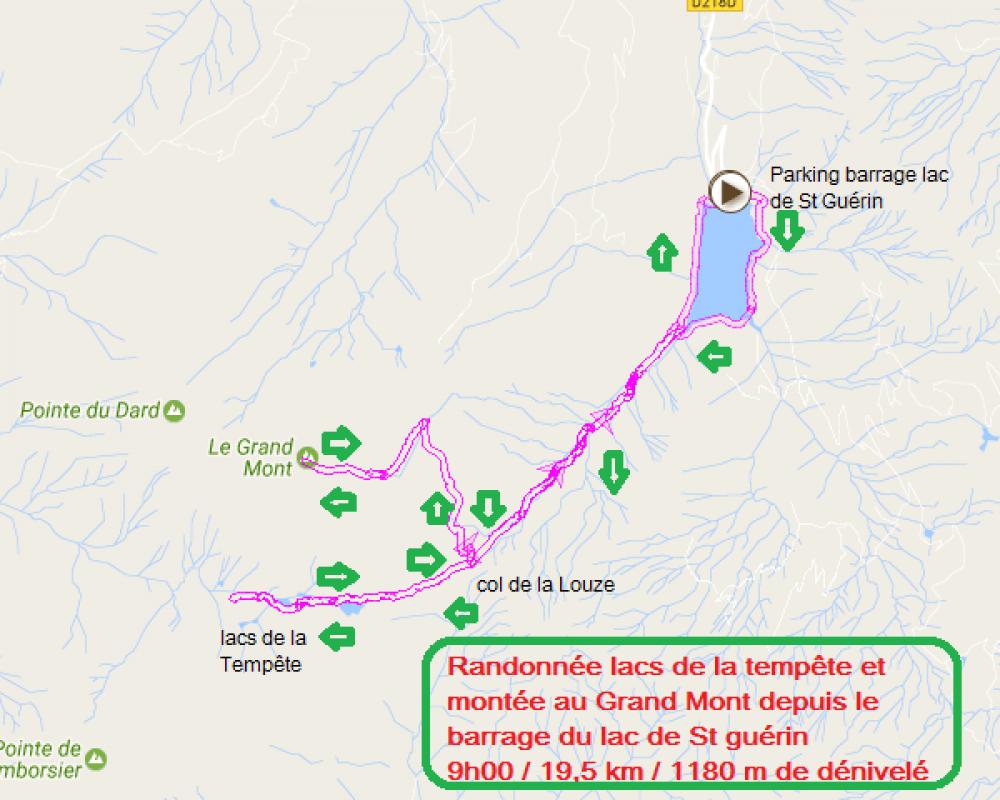 Randonnee lacs des tempetes et grand mont depuis le barrage de st guerin beaufortin