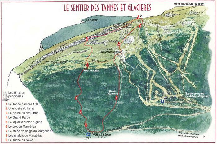 Sentier des tannes aux glacières à Aillon le Jeune