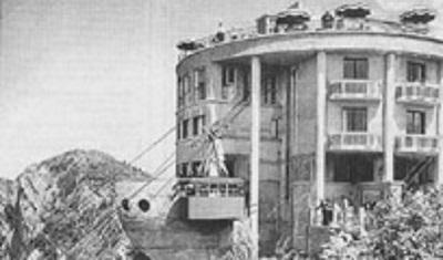 l' ancienne gare d' arrivée du téléphérique de Veyrier du lac