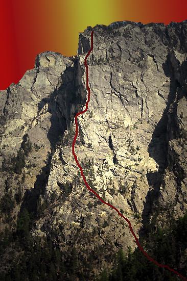 Tracé via ferrata del Rocca Clari à Clavières (Italie)