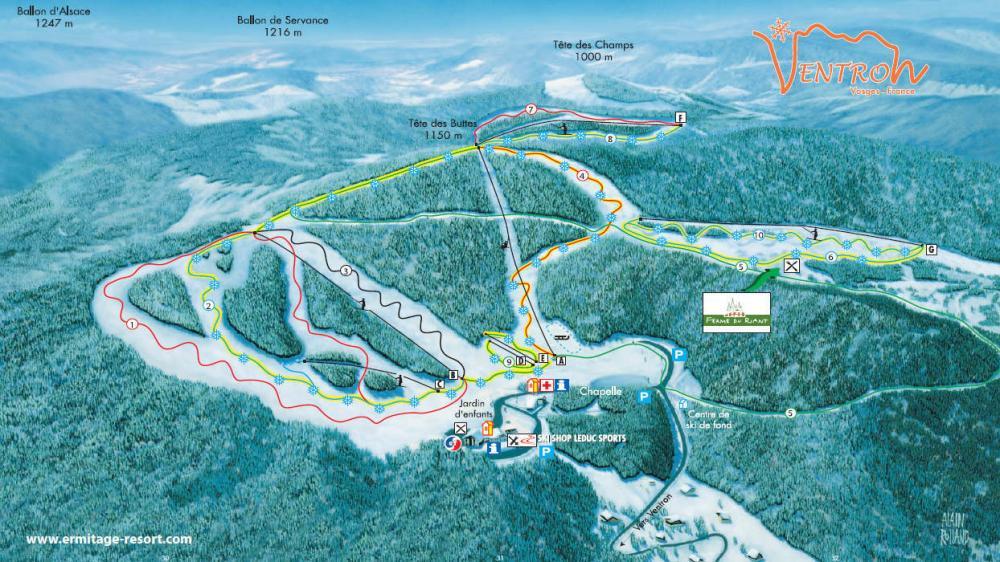 station de ski du Ventron dans les Vosges