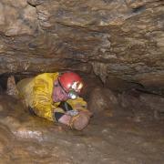 grotte de lanans, accés à la salle d' entrée