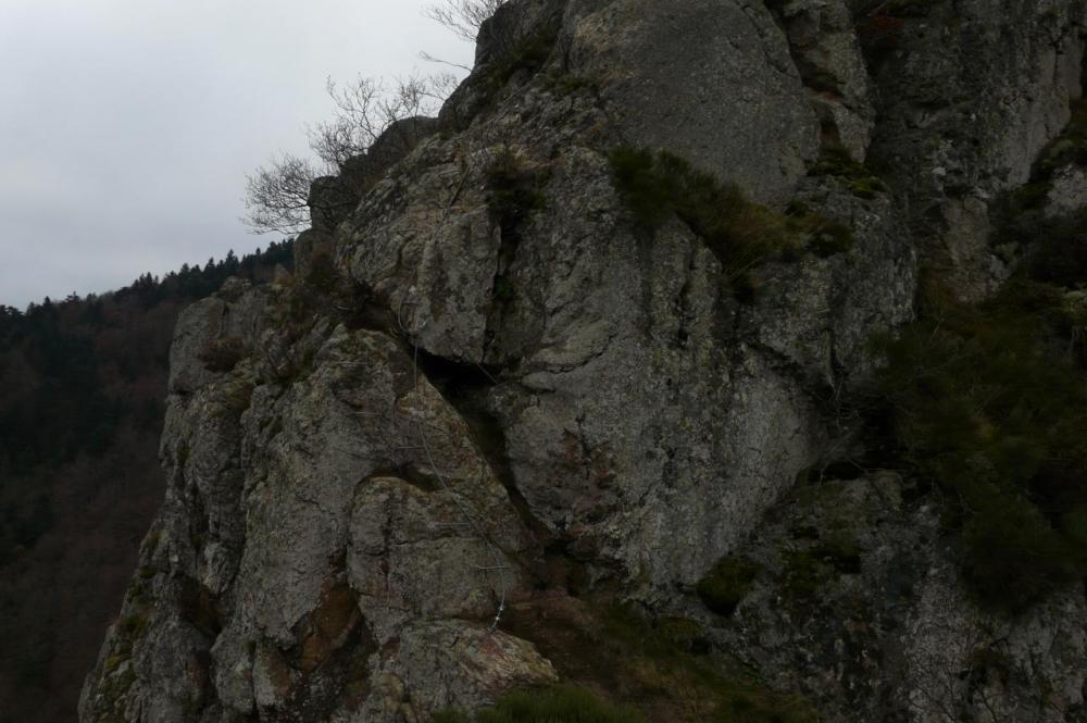 Fin du parcours bleu (rochers de la Miramande)