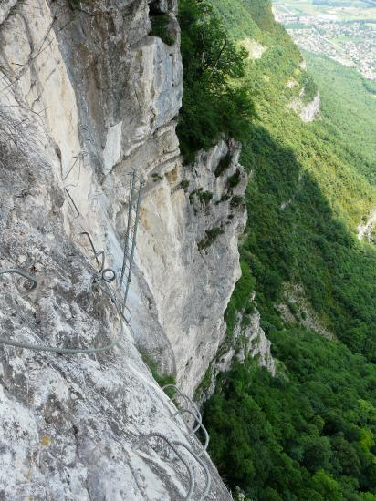 La via ferrata du Grand Dièdre à Crolles