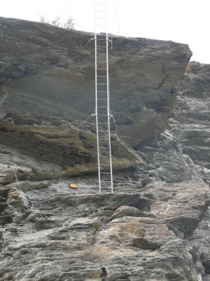 L' échelle renversée de la via de Lanslevillard