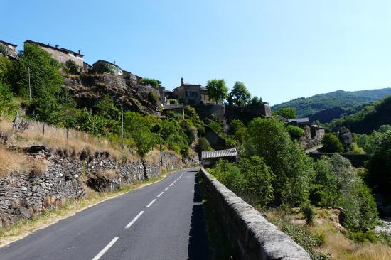 circuit vélo corniche des Cevennes :vers le col des Faïsses