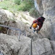 Poingt Ravier - valloire - Montée au dessus de la grotte