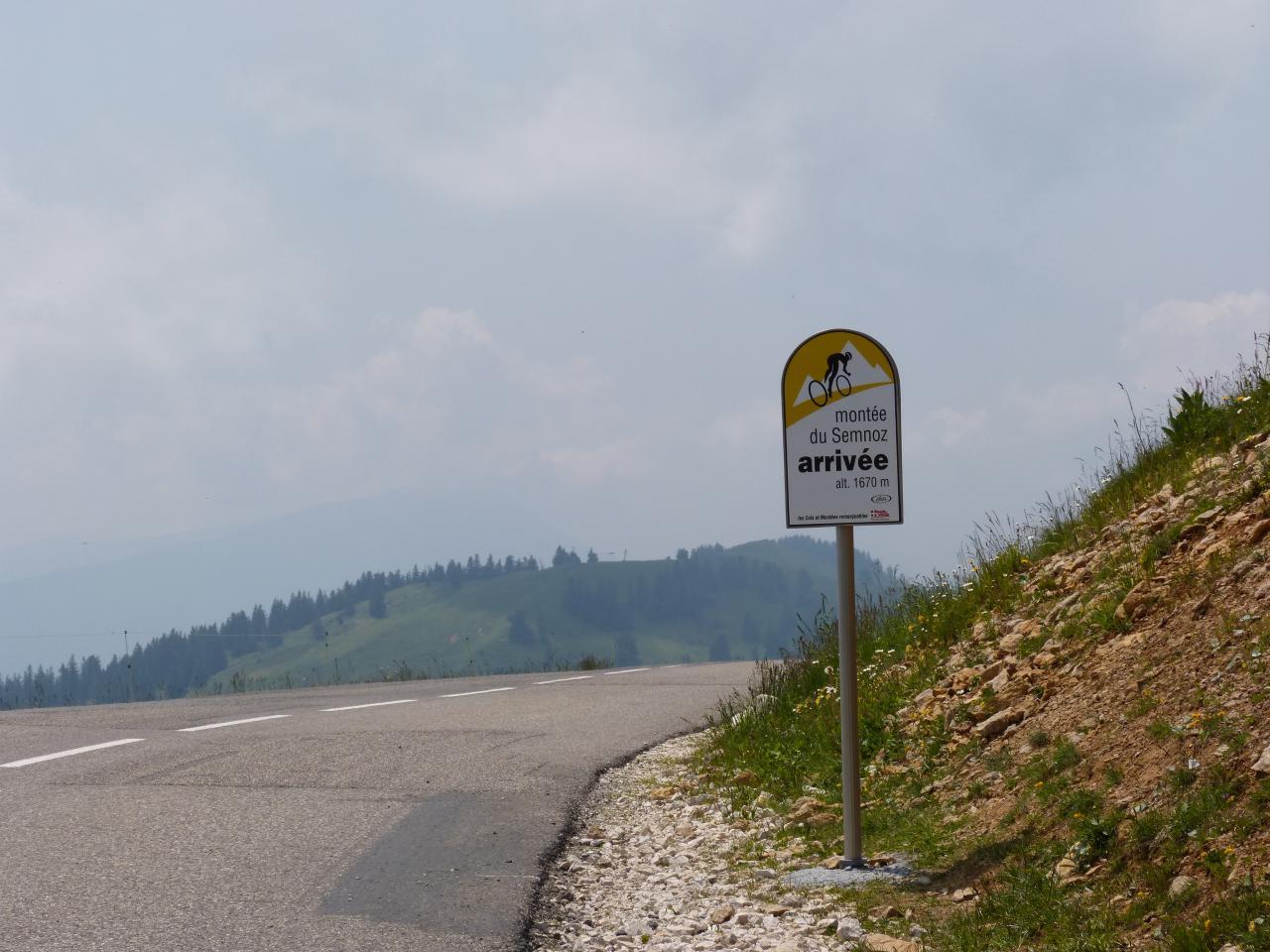 arrivée de l' étape du tour 2013 au Semnoz