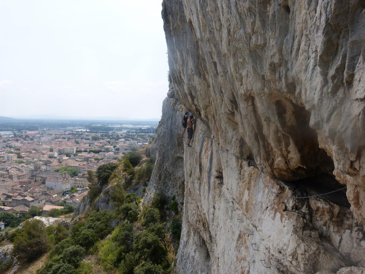 Via ferrata de la colline St Jacques Cavaillon (Vaucluse)