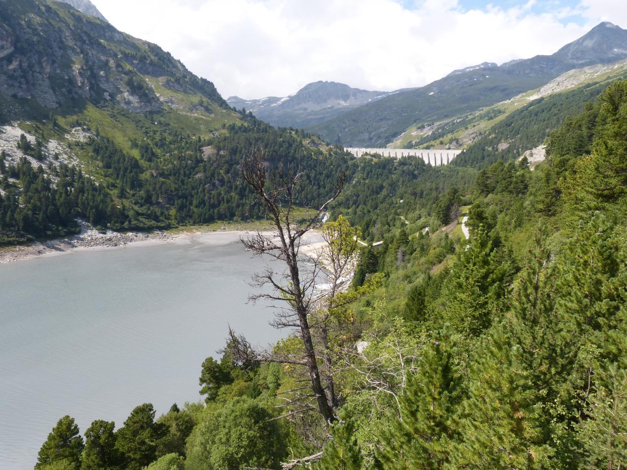 Montée à velo barrage plan d' Aval (Modane)