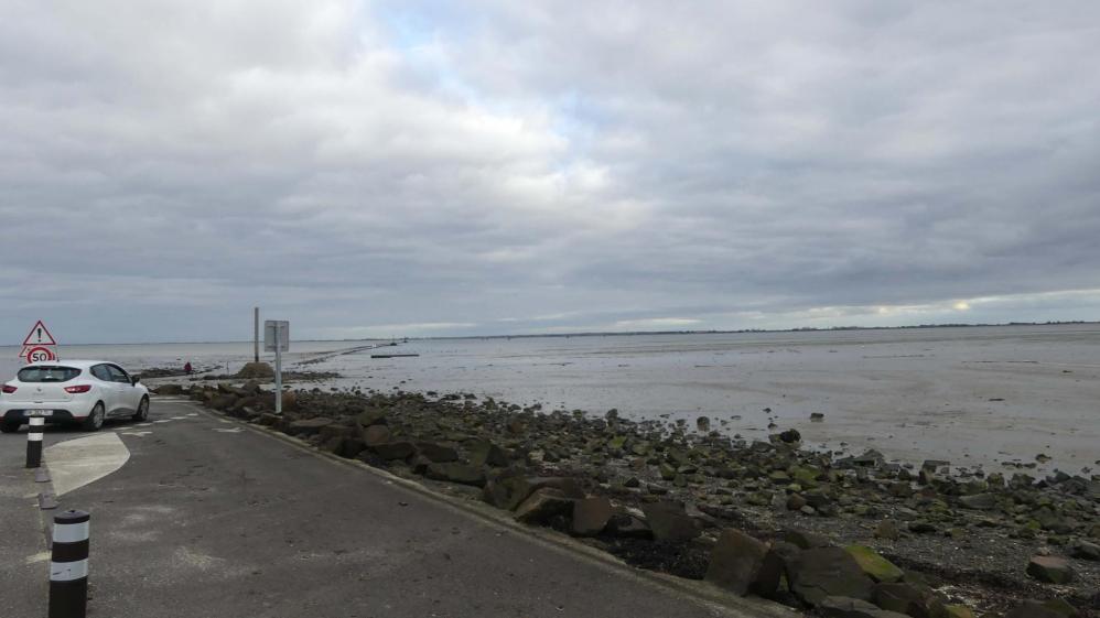 Passage du Gois, côté île, marée descendante
