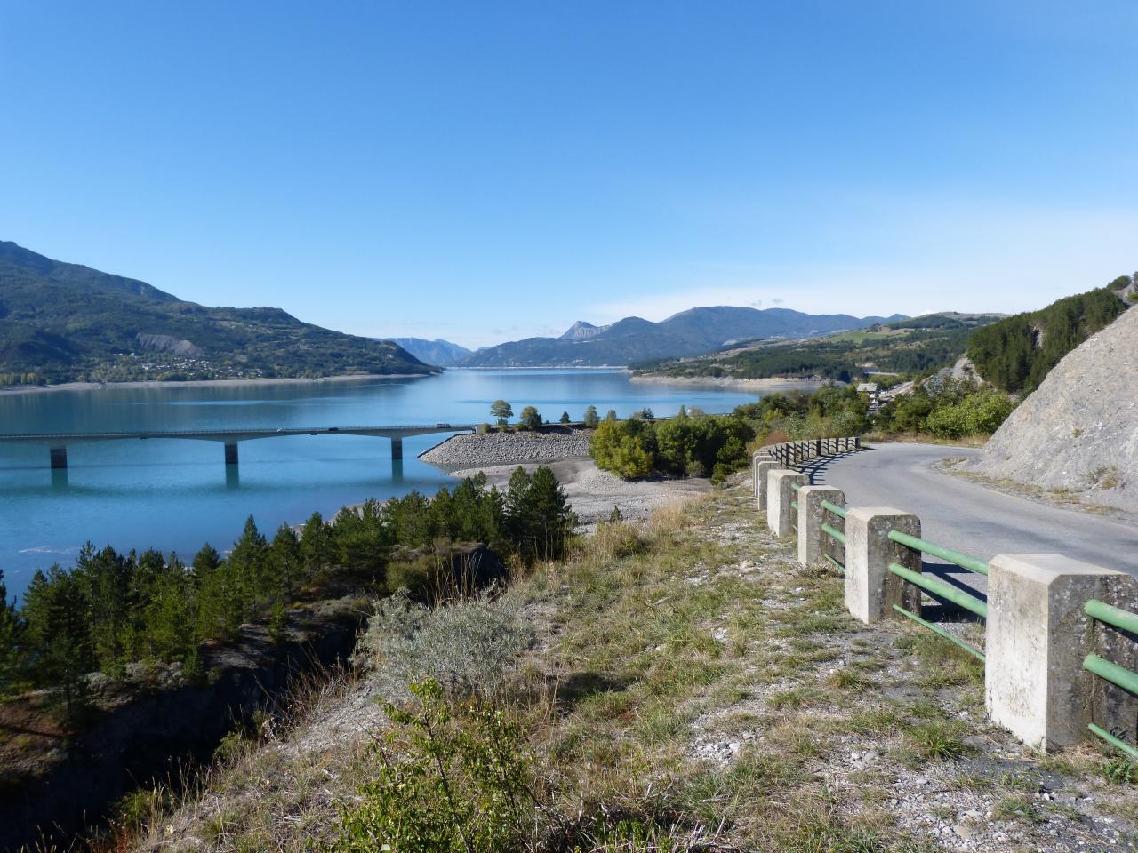 Circuit vélo hauts du lac de Serre Ponçon
