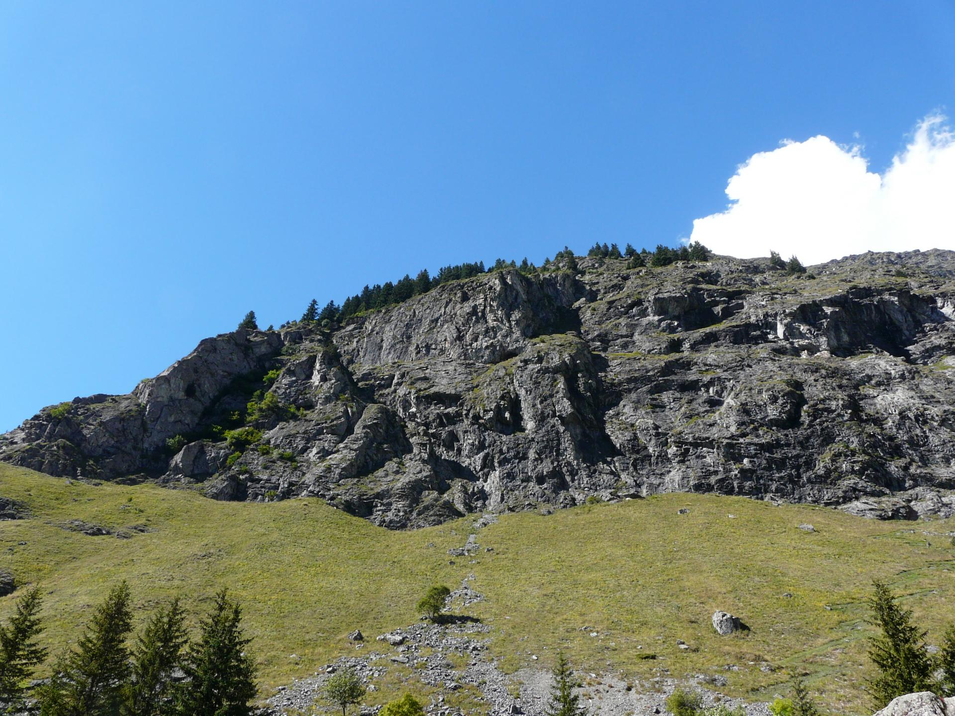 le rocher de la via ferrata de plan du Bouc