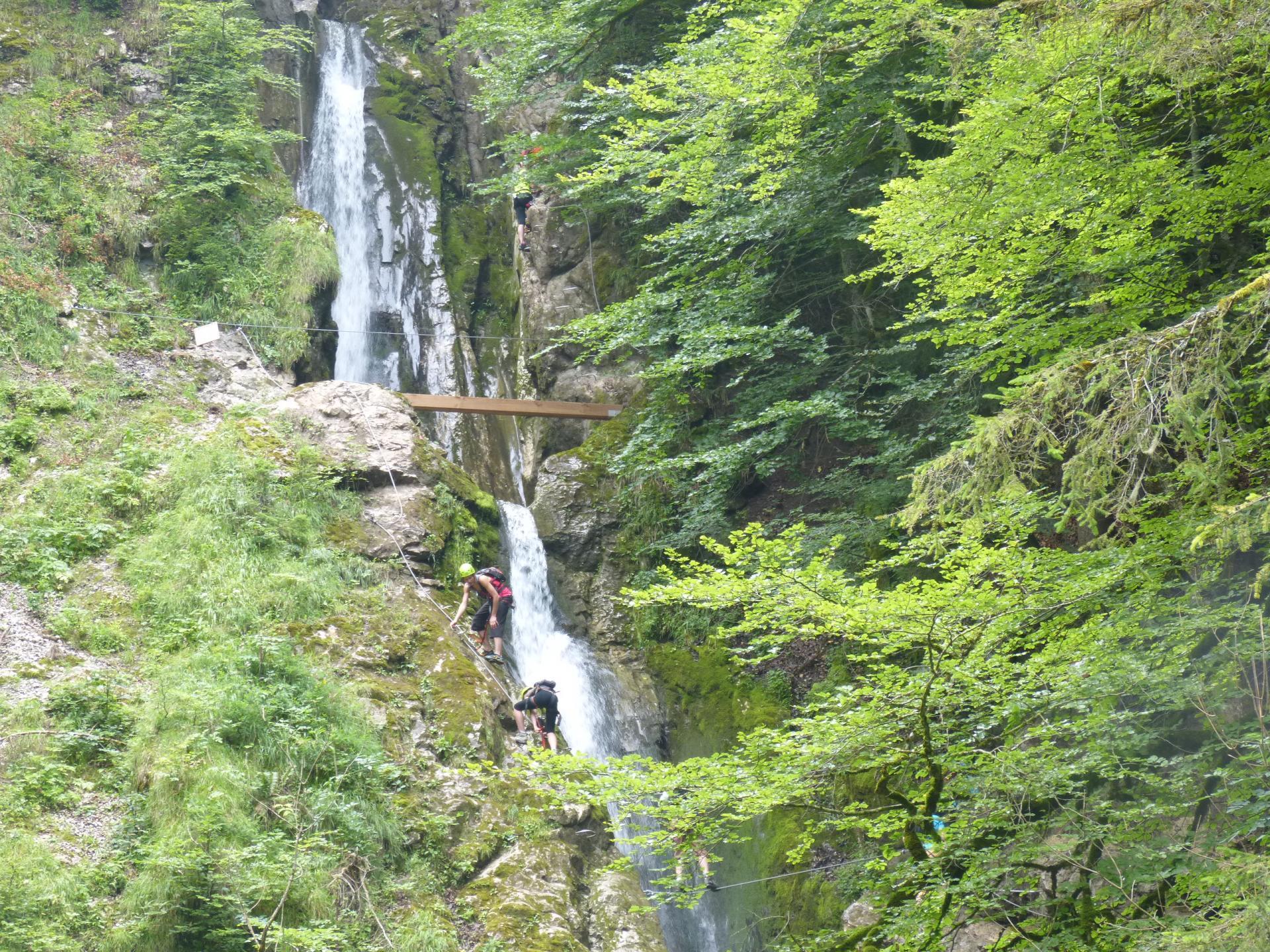 Via ferrata de la cascade des Nants - Bellevaux