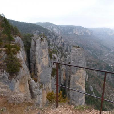 Balcon du vertige au dessus des gorges de la Jonte