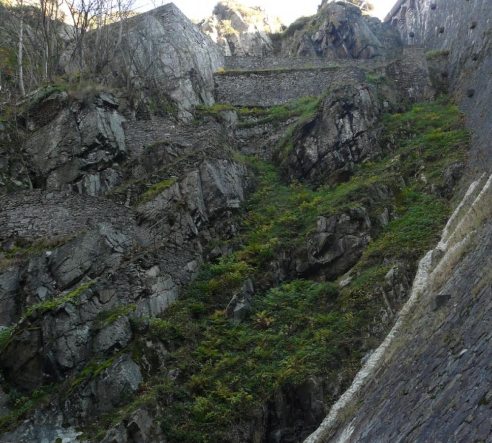 La montée au barrage