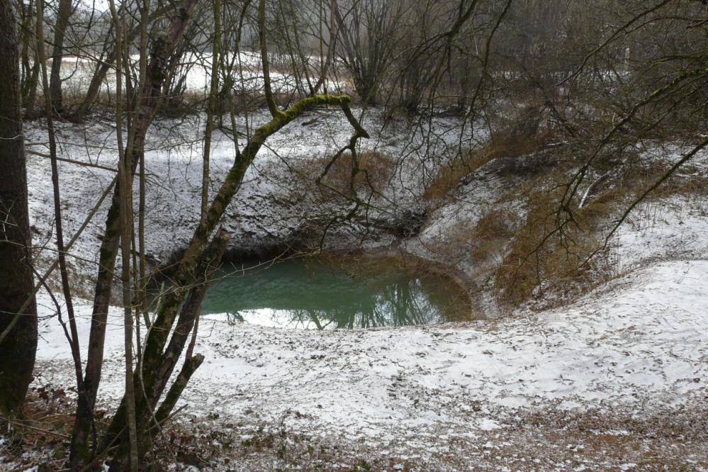 le trou des glanes à Moutrot