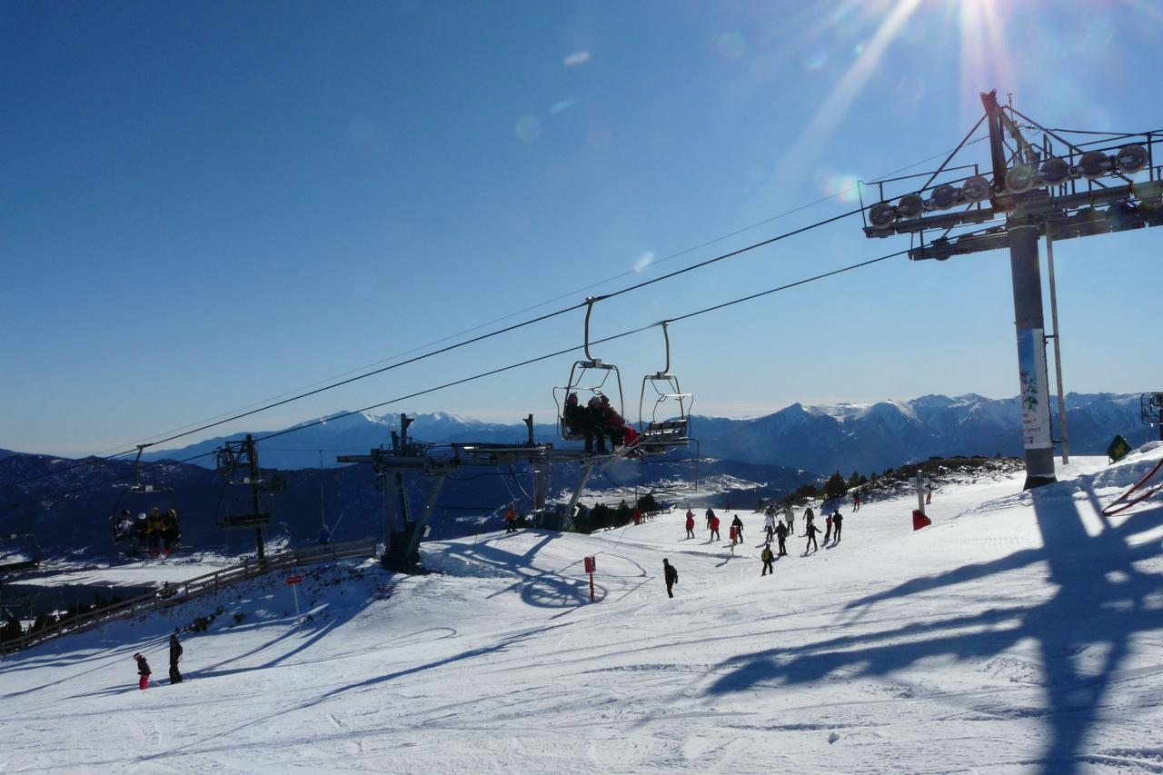 Ski de piste station des Angles