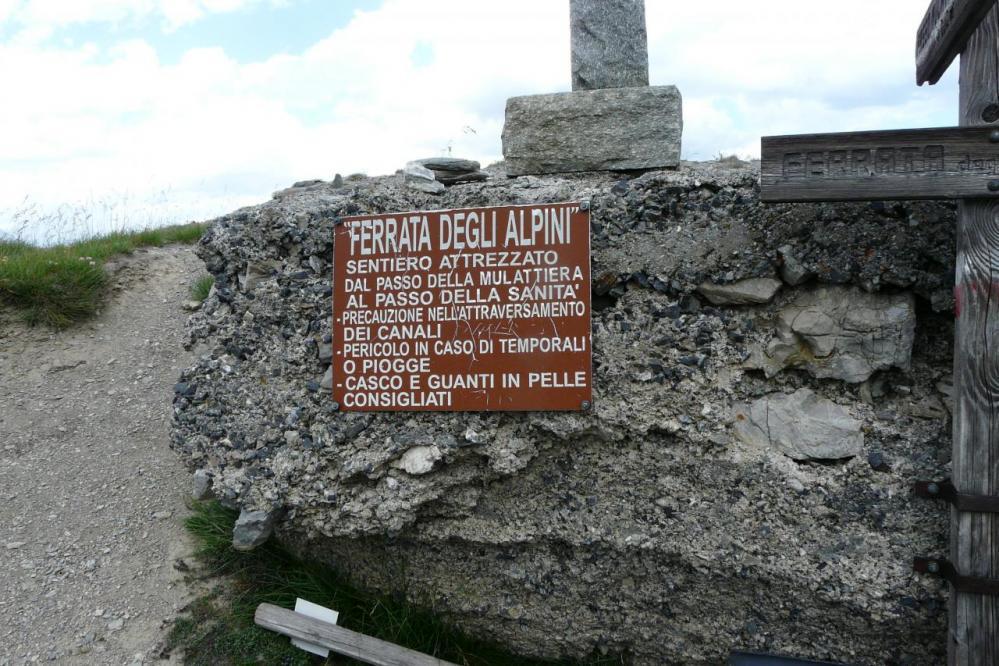 panneau d'info de la via