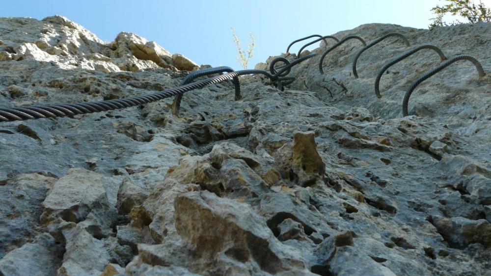 dernière verticale avant la sortie de la via de la Guinguette