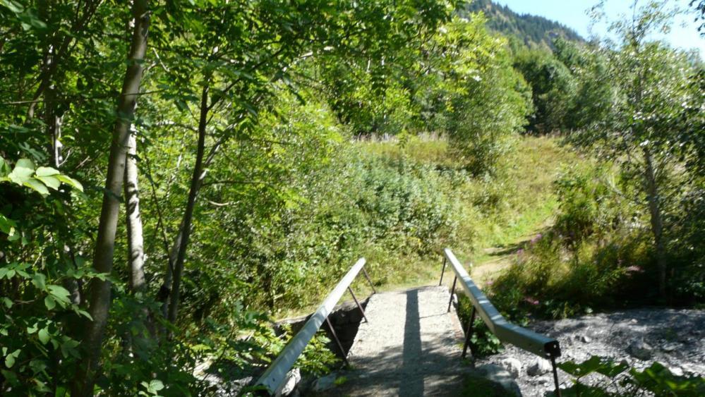 Passerelle sur le torrent au bas du hameau de la Vilette