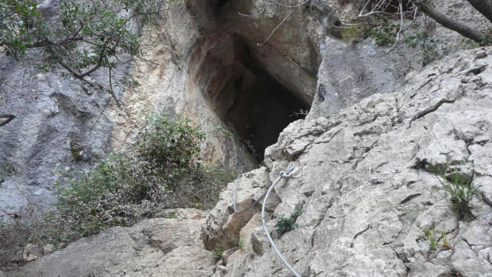 Première cheminée via du Thaurac