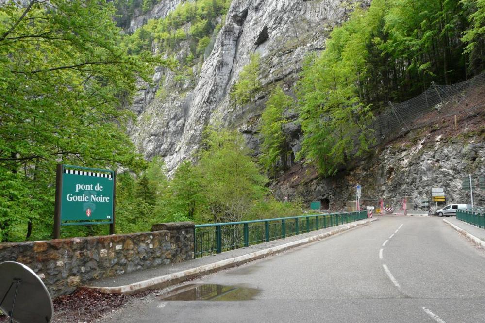 Pont de la Goule noire et les travaux