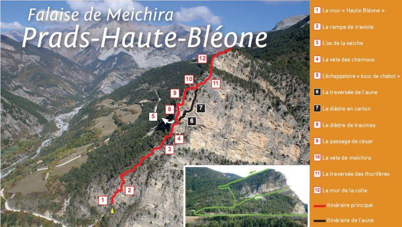 Itineraire via ferrata de Prads haute Bléone
