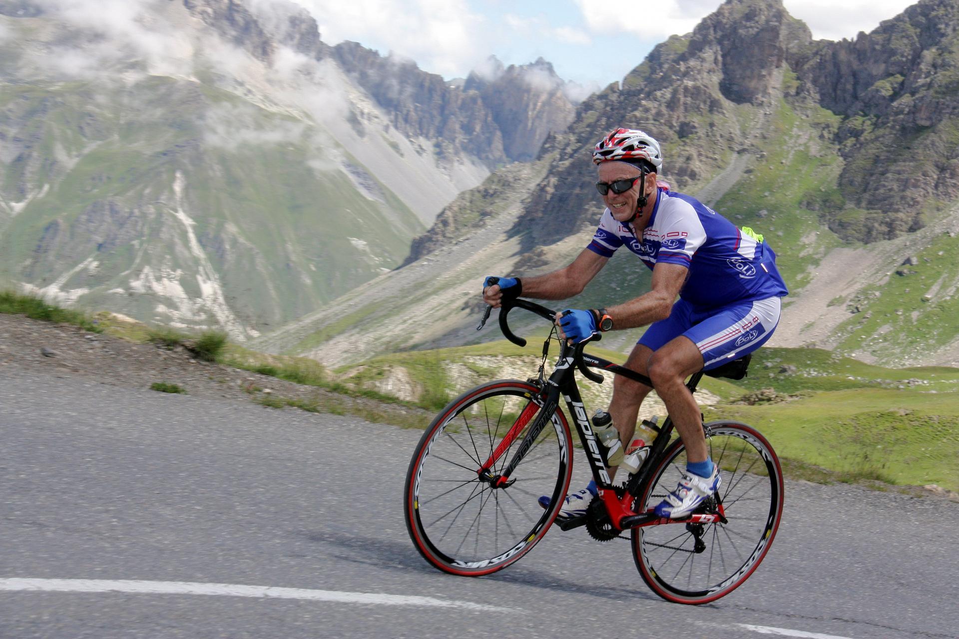 Montée à vélo cols Télégraphe / Galibier