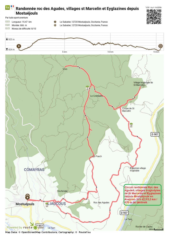 Routeyou randonnee roc des agudes villages st marcelin et eyglazines depuis mostuej copie 1